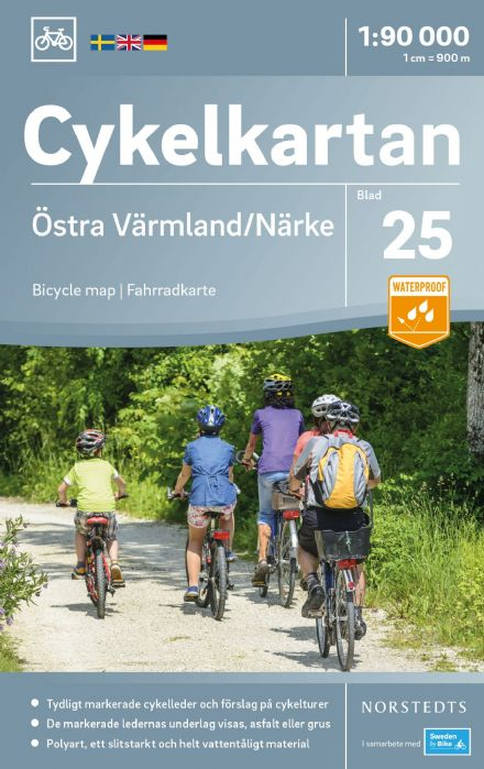 Sweden Cycling Map 25 - Värmland East & Närke
